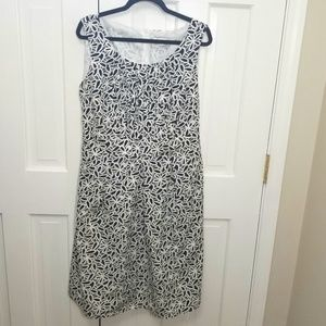 JULIAN TAYLOR Sundress Black/White Print Dress